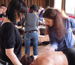 TP Massage lors de notre formation en médecine chinoise